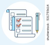 vector checklist icon | Shutterstock .eps vector #531755614