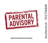 parental advisory. red stop... | Shutterstock .eps vector #531756868