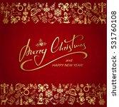 golden christmas elements with...   Shutterstock .eps vector #531760108