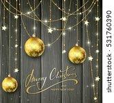 three christmas balls and...   Shutterstock .eps vector #531760390