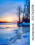 winter landscape panorama ... | Shutterstock . vector #531762058