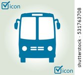 bus icon. schoolbus simbol. | Shutterstock .eps vector #531763708