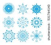 snowflakes | Shutterstock .eps vector #531764140