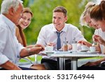 successful group of... | Shutterstock . vector #531764944