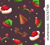 holiday seamless pattern with... | Shutterstock .eps vector #531767788