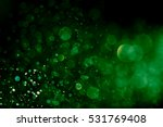 bokeh green on a black... | Shutterstock . vector #531769408