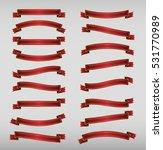 set red ribbons. raster   Shutterstock . vector #531770989