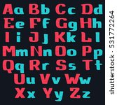 alphabet letters hand drawn... | Shutterstock .eps vector #531772264