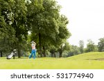 young man playing golf on the... | Shutterstock . vector #531774940