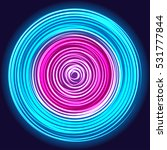 glow spin neon circles abstract ... | Shutterstock .eps vector #531777844
