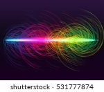 glow spin neon circles. rainbow ... | Shutterstock .eps vector #531777874