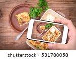 hands taking photo chicken... | Shutterstock . vector #531780058