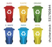 different colored recycle waste ... | Shutterstock .eps vector #531780844