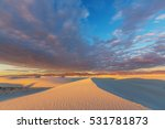 Unusual White Sand Dunes At...