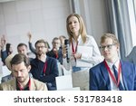 confident businesswoman holding ... | Shutterstock . vector #531783418
