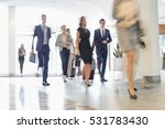 blurred motion of business... | Shutterstock . vector #531783430