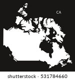 canada map black country...   Shutterstock .eps vector #531784660