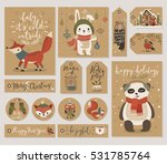 christmas kraft paper cards and ... | Shutterstock .eps vector #531785764
