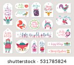 christmas gift tags set  hand... | Shutterstock .eps vector #531785824