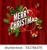 merry christmas greeting card... | Shutterstock .eps vector #531786370