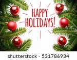 christmas decorations with... | Shutterstock . vector #531786934