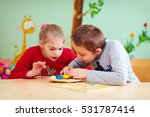 kids with special needs develop ... | Shutterstock . vector #531787414