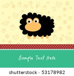 happy sheep greeting card | Shutterstock .eps vector #53178982