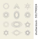 set of vintage sunbursts in... | Shutterstock .eps vector #531790024