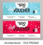 christmas gift voucher coupon... | Shutterstock .eps vector #531790360