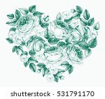 valentines day heart of... | Shutterstock . vector #531791170