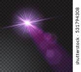 realistic beam light on... | Shutterstock .eps vector #531794308
