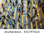 busy pedestrian crossing at...