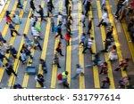 Busy Pedestrian Crossing Hong Kong - Fine Art prints