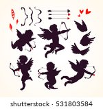 cute cupids and amour angels... | Shutterstock .eps vector #531803584