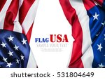American Flag Isolated On Whit...