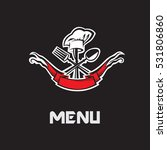 restaurant menu design with... | Shutterstock .eps vector #531806860