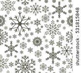 snowflake simple seamless... | Shutterstock .eps vector #531815848