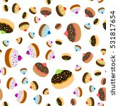 seamless jewish pattern with... | Shutterstock .eps vector #531817654