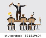 business professional holding a ... | Shutterstock .eps vector #531819604