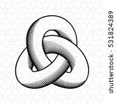 triple mobius loop impossible... | Shutterstock .eps vector #531824389