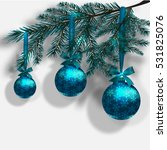 blue christmas tree branches on ... | Shutterstock . vector #531825076