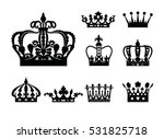 crown isolated on white... | Shutterstock .eps vector #531825718