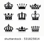 crown isolated on white... | Shutterstock .eps vector #531825814