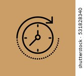 clock icon. flat design