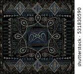 ethnic seamless pattern  dark... | Shutterstock .eps vector #531830590