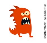 cartoon flat monsters big icon. ... | Shutterstock .eps vector #531830710