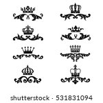 crown with ornate scroll and... | Shutterstock .eps vector #531831094