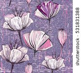 lilac seamless pattern with... | Shutterstock .eps vector #531831388