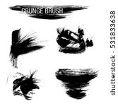 vector set of grunge brush... | Shutterstock .eps vector #531833638