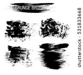 vector set of grunge brush... | Shutterstock .eps vector #531833668